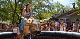 Bull Riding at an Outdoor Party